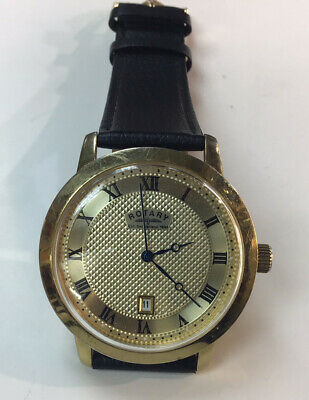 £25 • Buy Gents Pre-used Rotary Quartz Wristwatch Full Working New Strap & Battery