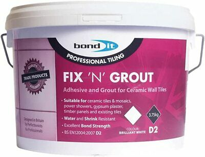 £9.95 • Buy Fix N Grout 3.75kg Tile Adhesive Internal Use Ideal For Showers And Wet Bond It