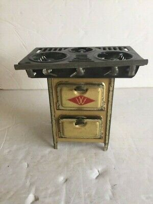 £14.16 • Buy Antique Tin Toy Range Stove Cooker Westinghouse Model 4 Childs Doll House