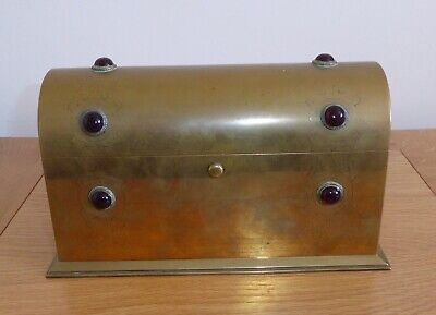 £195 • Buy Arts And Crafts Brass  Stationary Box Or Letter Rack C.1900