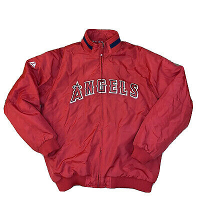 $70 • Buy Majestic Authentic MLB Los Angeles Angels Therma Base Jacket XL Fits M-L