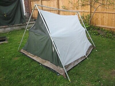 £21.50 • Buy Vintage Green Lichfield Mistral 2 Tent, Sloping Ridge, A-frame Front/rear Poles