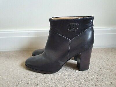 £150 • Buy CHANEL Ladies Leather Ankle Boots In Brown Size EU 38.5C/UK 6.5