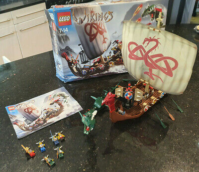£79.99 • Buy LEGO 7018 Vikings Viking Ship Challenges The Midgard Serpent (3 Pieces Missing)