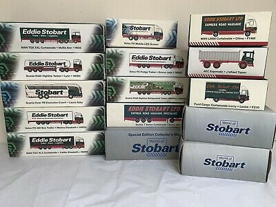 £120 • Buy Eddie Stobart COLLECTION X15 Boxed Models Atlas Editions 1:76 Scale Large Lot