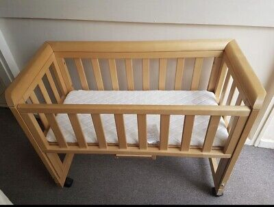 £18 • Buy BABY Crib Bedside Next To Me  Cot Bed Wooden With Mattress