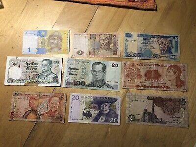 £1.05 • Buy Old Historical Foreign Currency Banknotes For Collectors MIXED SET ONE