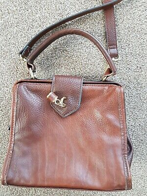 $ CDN2.57 • Buy Ladies Handbags Used Cross Body Leather Look Therapy Make Box Style Brown
