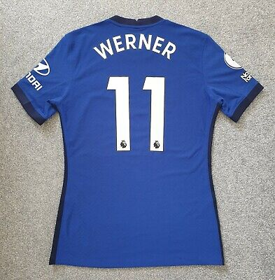 £357 • Buy Timo Werner Chelsea Premier League Match Worn Home Player Shirt Jersey Germany