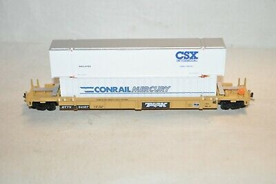 £17.02 • Buy N Scale Walthers TTX Trailer Train Thrall 48' Containers Well Car W/ Load W MTLs