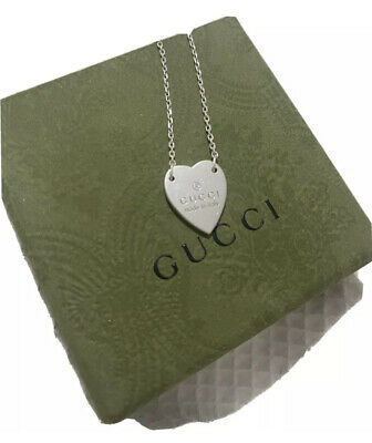 £95 • Buy Gucci Heart Necklace Sterling Silver