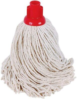 £12.79 • Buy 10 X Heavy Duty Replacement Cotton Floor Mop Head PUSH IN Socket RED Color Coded