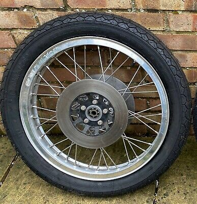 """£150 • Buy 19"""" Front Spoked Motorcycle Wheel Discs And Tyre OFFERS WELCOME"""