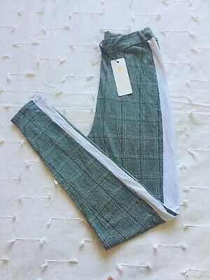 £1.10 • Buy Tartan Striped Leggings, New With Tag, Size 8, I Saw It First Branded