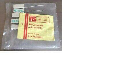 £1.20 • Buy Resistor, 4W Wirewound, 100 Ohm, 5%, Pack Of 5