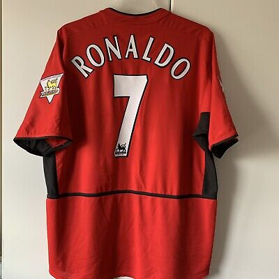 £9.50 • Buy Manchester United Home Football Shirt 2003/04 Ronaldo 7 Extra Large -please Read