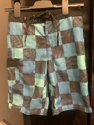 £4 • Buy Vans Boys Board Shorts Size 26/age 12 Checked
