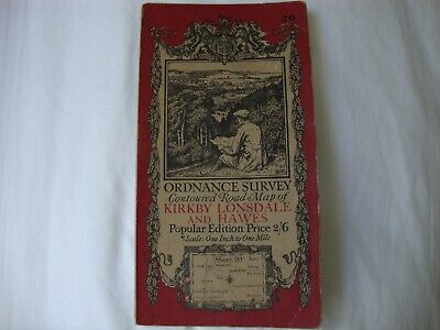 £4 • Buy 1920 Ordnance Survey Map KIRKBY LONSDALE And HAWES No. 20