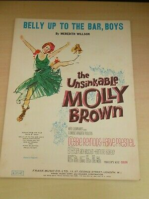 £10 • Buy Debbie Reynolds Belly Up To The Bar Boys Unsinkable Molly Brown Film Sheet Music