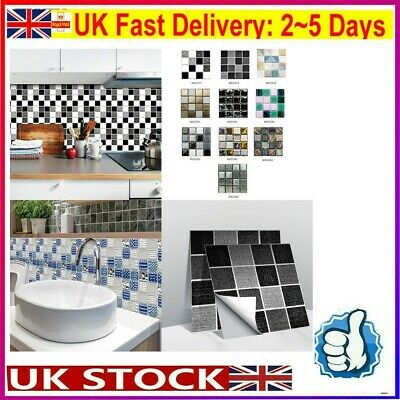 £6.66 • Buy 10*10CM Kitchen Bathroom Tile Stickers Mosaic Sticker Self-adhesive Wall Home