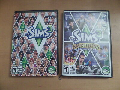 £7.07 • Buy Sims 3 + Ambitions Expansion Pack + Manuals & Boxes PCMACDVD