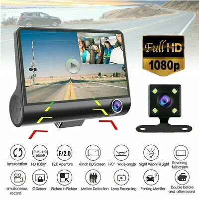 AU42.03 • Buy 4  Car DVR 3 Lens Dash Cam Front And Rear HD 1080P Video Recorder Camera Kit