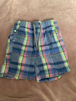 £2 • Buy Next Boys Checked Shorts Age 6 Years