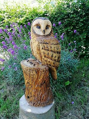 £215 • Buy Chainsaw Carved Barn Owl, Garden Sculpture