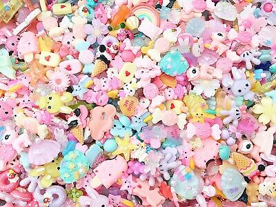 £6.45 • Buy 20 Piece Mixed Resin Flatback Cabochon Embellishments For Decoden And Crafts