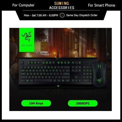 AU69.30 • Buy Razer Gaming Keyboard Combo Cynosa Pro And DeathAdder 2000 Mouse For Gaming