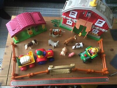 £7.99 • Buy Toy Farm Animals Lot Toy Plastic Farm Animals Farmers & Buildings With Tractors