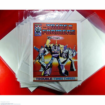 £9.99 • Buy Transformers COMIC BAGS - SLEEVES AND BOARDS For Marvel UK Issues And 2000AD X10