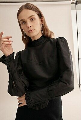 AU74.99 • Buy BNWT Country Road Black Panelled Shirt Size 8