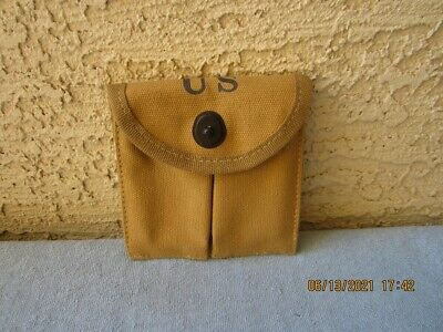 $6.95 • Buy WWII US Army Canvas M1 Carbine Double Magazine Pouch, G.&R.CO 1943 Reproduction