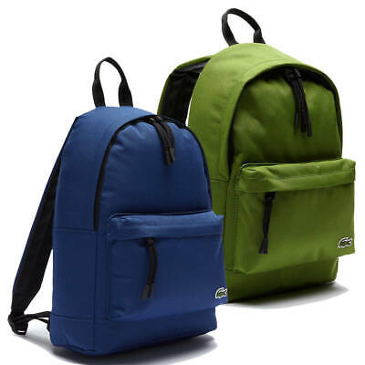 £60 • Buy Lacoste Mens Neocroc Small Canvas Adjustable Embroidered Backpack Rucksack