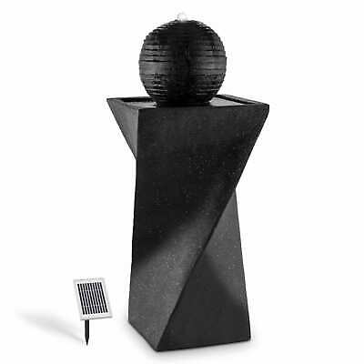 £139.99 • Buy Solar Garden Fountain Sphere Water Feature Pump LED 200 L / H LED 2W Stand Black