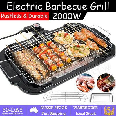 AU28.69 • Buy Electric Teppanyaki BBQ Grill Table Smokeless Hot Plate Non Stick Barbequ Indoor