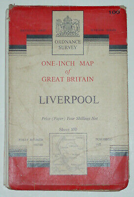 £2.99 • Buy 1952 OS Seventh Series 1  Map Sheet 100 Liverpool