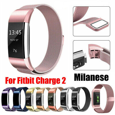 AU10.99 • Buy Milanese Replacement Band Metal Stainless Steel Magnet Fit Fitbit Charge 2 Strap