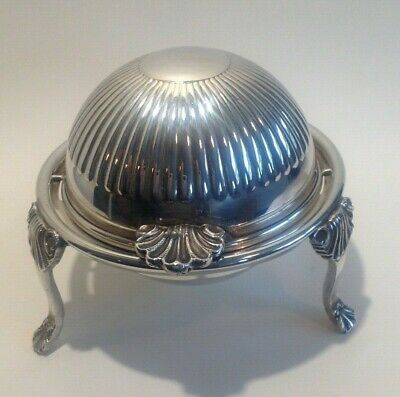 £25 • Buy  Antique Vintage Roll Top Butter Dish ~ Silver Plated / English