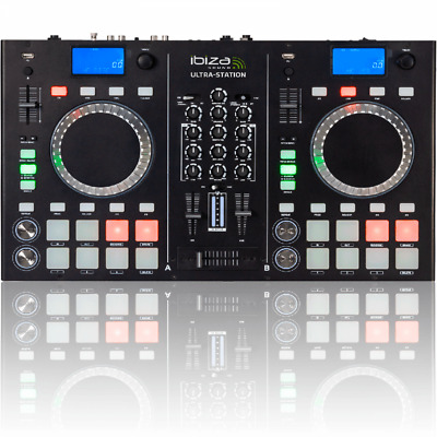 £379.99 • Buy Twin CD Player DJ Station With 2 Channel Mixer With Bluetooth USB EQs And Pitch
