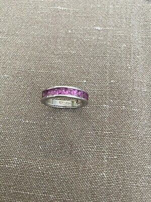 £15 • Buy Ti Sento Milano Ring Size 7 (US) With Purple Stones In Sterling Silver 925