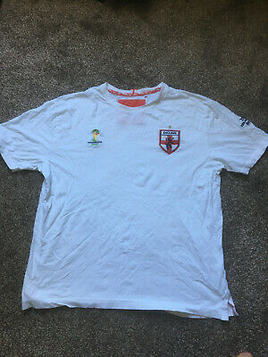 £1.95 • Buy Fifa World Cup Brazil 2014 England T-Shirt Top - White UK LARGE