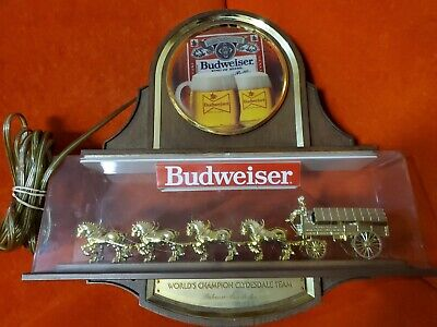 $ CDN502.28 • Buy Vintage Budweiser Clydesdale World Champion Gold Light Display ~ Tested