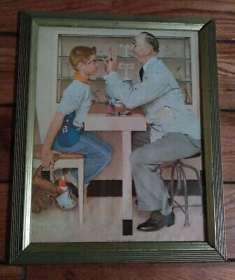$ CDN63.91 • Buy Norman Rockwell -The Optometrist Eye Doctor Print Framed 13 X16  Great Picture