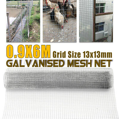 £24.06 • Buy 13mm Galvanised Mesh Net Wire Poultry Aviary Chicken Fence Garden DIY Farm Roll