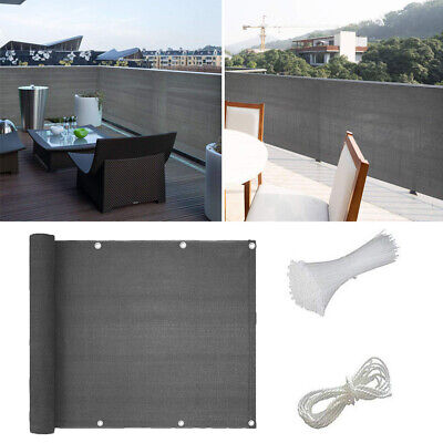 £11.86 • Buy UK 5M Balcony Screen Privacy Sunshade Garden Fence Panel Cover Breathable Net