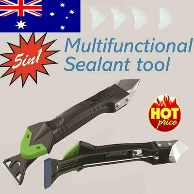 AU11.96 • Buy 5 In1 Silicone Remover Caulk Finisher Sealant Smooth Scraper Grout Kit Tools ZE