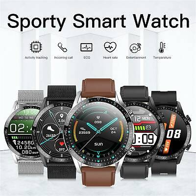 AU55.88 • Buy ECG Smart Watch With Body Temperature Blood Pressure Monitor For Android IOS AU