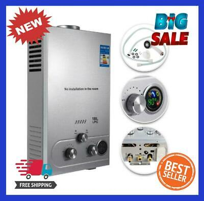 £82.63 • Buy Water Heater Propane Gas Lpg Tankless 6/8/10/12/16/18l 4.8gpm Stainless Steels